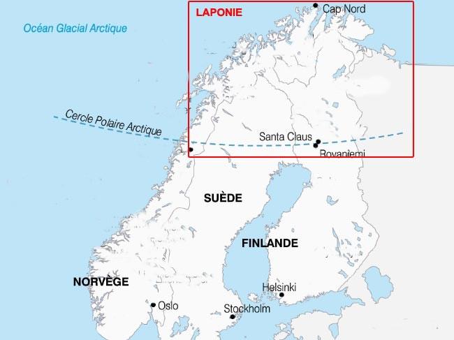 Célèbre Le pays du père noël , la Laponie - Les petits voyages GK82